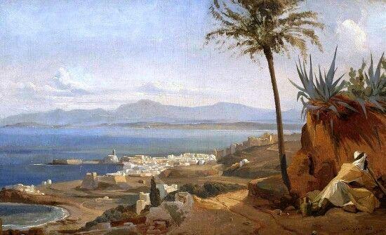Baie d'Alger - Alger vue des hauteurs, 1840, Niels Simonsen