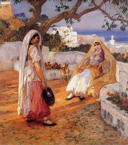 Two women of Algiers by Frederick Arthur Bridgman (1847–1928)
